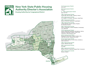 New York State Public Housing Authority Director's Association map